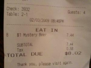 $8 beer