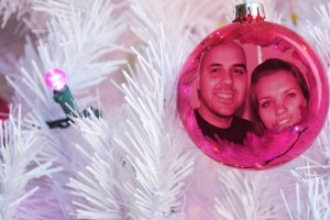 Christmas card pink